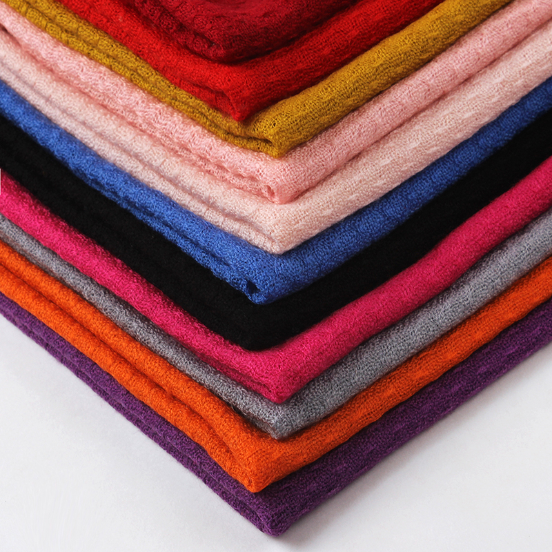 2017 High quality pure wool cashmere scarf for women winter shawl wraps female candy color pashmina stoles oversize 200*75cm