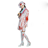 2018 new high quality female adult Halloween role playing costume horror zombie nurse masquerade stage performance costume ghost