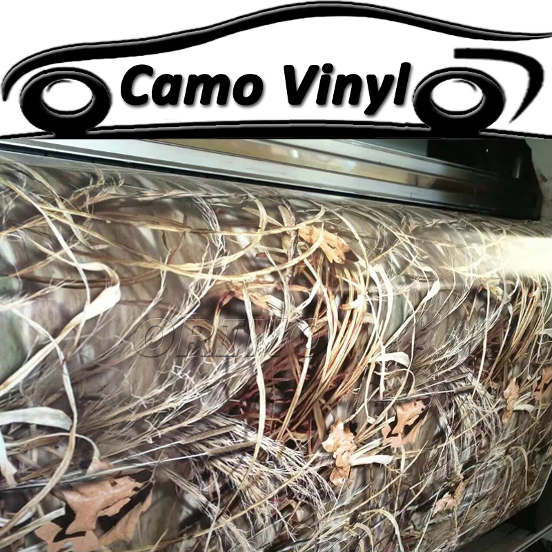 Shadow Grass Realtree Camouflage Vinyl Film Wrap With Air Bubble Free Car Styling Adhesive Sticker Car