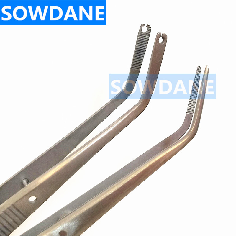 Dental Surgical Operation Stitching Tweezer College Tweezers Cotton Dressing Forcep Slots Tip Serrated Tip Oral Care