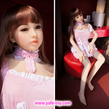 145cm flesh skin color Top quality japanese silicone love doll, full body sex doll skeleton, adult doll with vagina real pussy