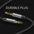 Baseus aux cabo duplo jack de 3.5mm macho para adaptador macho para relâmpago cabo de extensão de áudio aux para iphone 7 6 s fone de ouvido fone de ouvido
