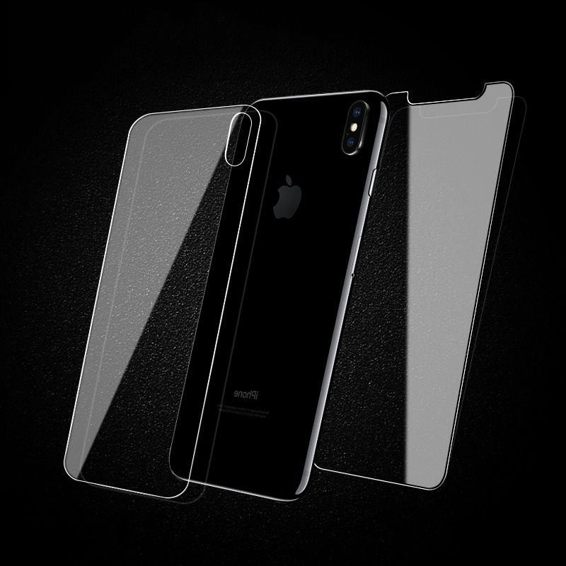 2pcs/lot front+back 2.5D Tempered Glass For iPhone 11 Pro X XS MAX XR Screen Protector Film Glass Case On For iPhone 7 8 6 S Plus X 11 5 5S SE