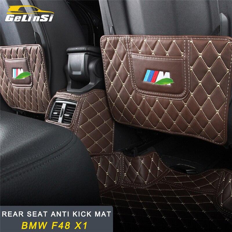 GELINSI siège arrière anti coup de pied tapis accessoires intérieurs pour BMW F48 X1 2016 2017 2018 Auto voiture-style