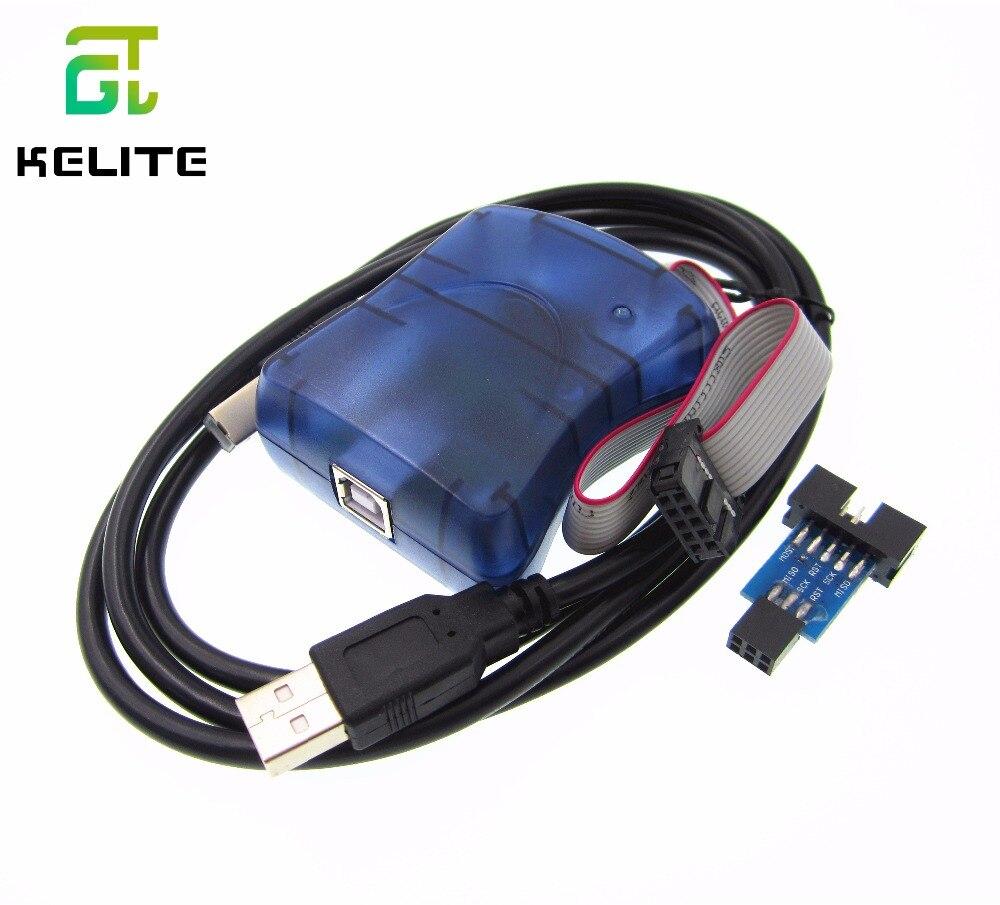 Hot Item 1PCS AVRISP Atmel STK500 AVR programmer USB Atmaga Attiny