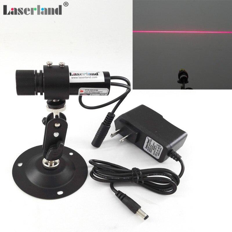 22*70mm Focusable 650nm 20 mw 60 mw 100 mw Linea Rossa Generatore Diodo Laser Modulo Locator + adattatore UE/USA + mount vestiti di legno di taglio