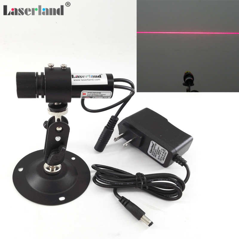 22*70mm Focusable 650nm 20mW 60mW 100mW Red Line Generator Diode Laser Module Locator +EU/US adapter+mount clothes wood cutting 650nm 5mw focusable red line laser module laser generator diode