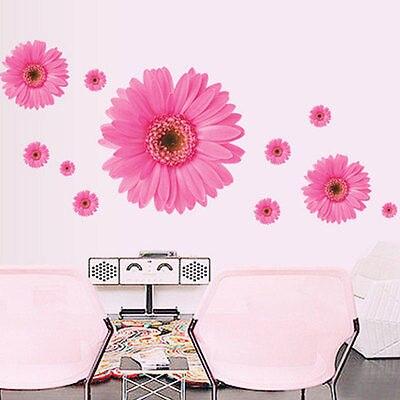rmovable sala decalque da flor da margarida adesivos de parede flor papel de parede diy decor - Flor Decor