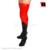 Sensuais meias de Látex Preto com costura Vermelha Do Glam Na Altura Do Joelho saltos pés de Borracha Gummi desgaste coxa alta Perna longa plus size XXXL