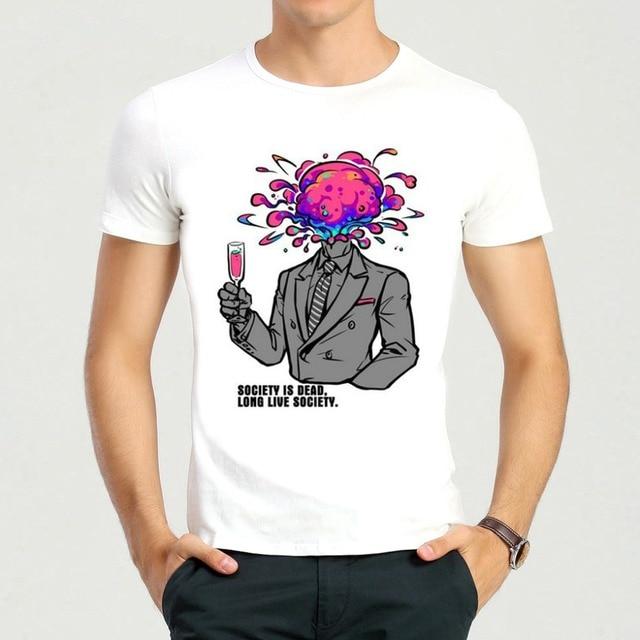 Mens Cartoon Kingsman T-Shirt Summer Short Sleeve White Colin Firth Top  Tees Shirt For