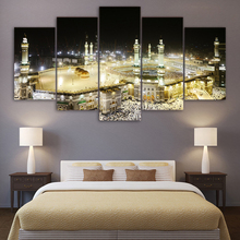 HD Printed 5 Piece canvas Art Islamic Churches Paintings Mosque Wall Pictures for Living Room Decor Free Shipping