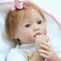 55 см силиконовые куклы Reborn Baby Alive мягкие игрушки для девочек 22 дюймов реальные куклы силиконовые новорожденных Bonecas детские игрушки