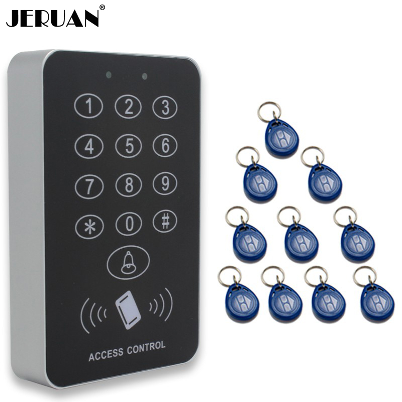 JERUAN Banrd New High security Security RFID Proximity Entry Door Lock Access Control System 500 User +10 Keys FREE SHIPPING
