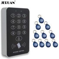Jeruan banrd新しい高セキュリティセキュリティrfidの近接エントリードアロックアクセスコントロールシステム500ユーザー+ 10 keys送料無料