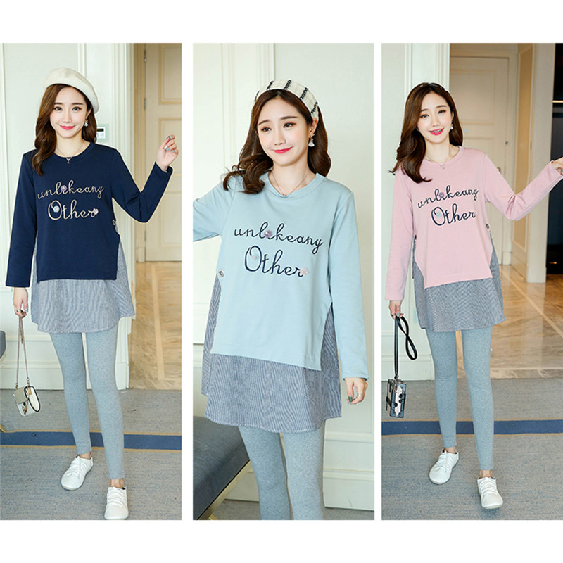 9693a2e18fde8 Pregnant Women T shirt Long sleeved Loose Cotton Korean Version Fashion  Shirt Maternity Wear-in Tees from Mother & Kids on Aliexpress.com | Alibaba  Group