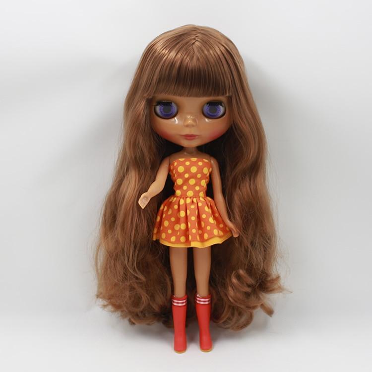 Star Product Blyth Nude Doll Brown Hair With Bangs Princess Dolls DIY Makeup Doll chiaro паула 8 411013808