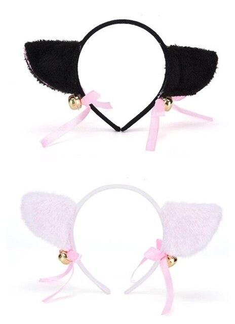 ホット 1 ピース素敵なベル猫耳カチューシャ女性ファッションかわいい Hairwear チャーミング素敵なキツネの毛皮の耳ヘアバンド