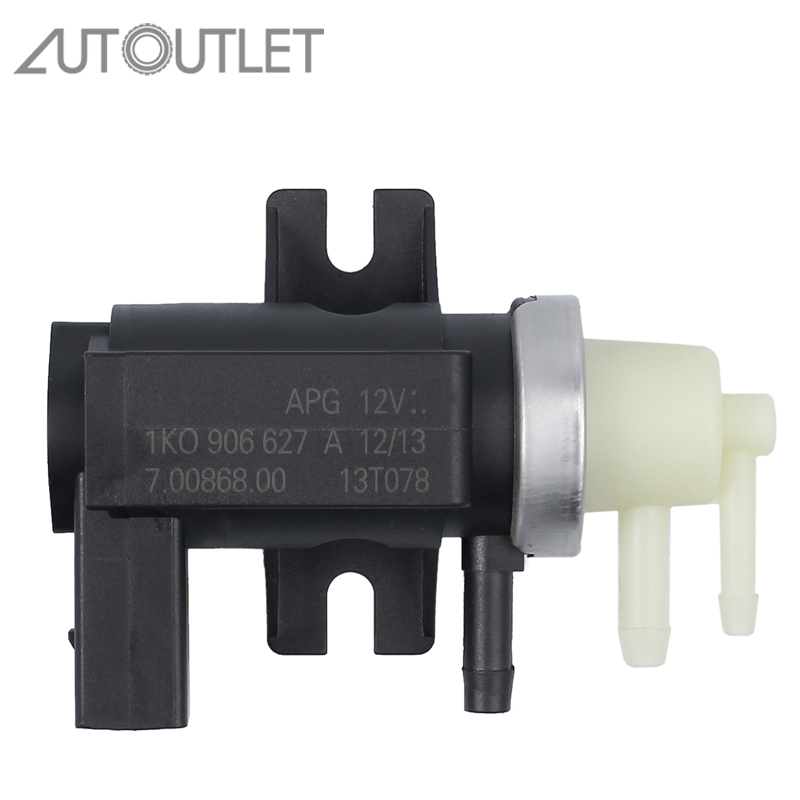 AUTOUTLET For Turbo Solenoid N75 Moo Valve T5 Transporter 1.9 2.0 & 2.5 TDI 1K0906627A Solenoid Control Valve For Audi V W