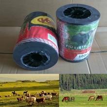 Электрический забор Синтетический Шнур Ультра низкое сопротивление горячий Поли веревка 2 мм красный белый полипровод со сталью для лошади ограждение для овец