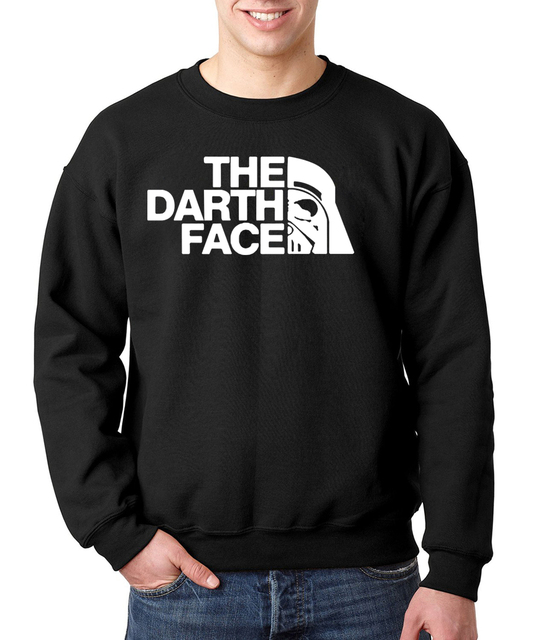 2017 new autumn winter fashion the darth face brand clothing fitness man drake hooded warm suit  funny hoodies men sweatshirt