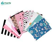 무결성 50pcs 쥬얼리 비닐 봉투 결혼 선물의 더 많은 패턴 크기 두꺼운 부티크 선물 쇼핑 포장 플라스틱 손잡이 가방