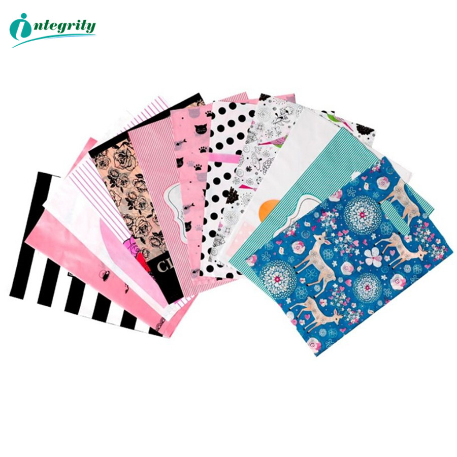 INTEGRITY 50pcs More Pattern Size Of Jewelry Plastic Bag Wedding Gift Thick Boutique Gift Shopping Packaging Plastic Handle Bags