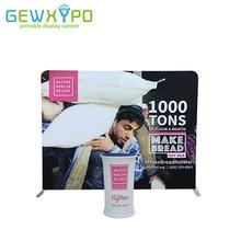 Gratis Shipping10ft * 7.5ft Premium rechte stretch banner display standaard met enkele zijde grafische + draagbare stof ovale toonbank