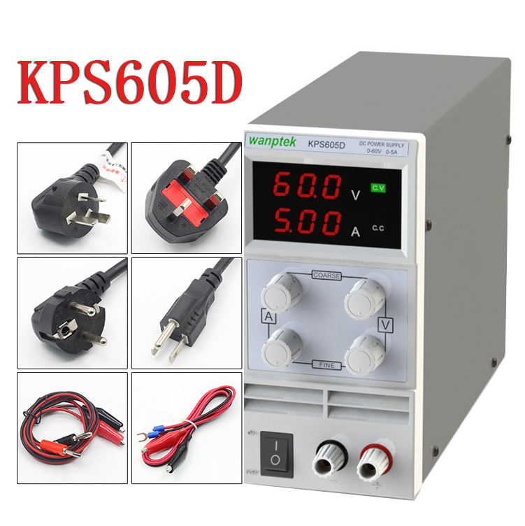 KPS605D 60V 5A Single Channel adjustable Digital 0.1V 0.01A DC Laboratory power supply cps 6011 60v 11a digital adjustable dc power supply laboratory power supply cps6011