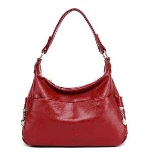 Image 1 - Женская сумка из натуральной кожи в стиле ретро, дамская сумочка на плечо, Женский мессенджер через плечо, дамские тоуты