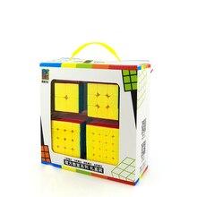 MoYu Mofangjiaoshi 2x2 3x3x3 4x4x4 5x5 magic cube Positive Order Combination Suit Magic Cube Set Include for Brain Training