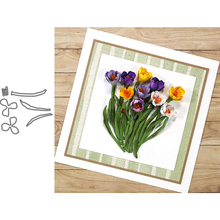Garden Flower Crocus Metal Cutting Dies for Scrapbooking and Cards Making Paper Craft New 2019
