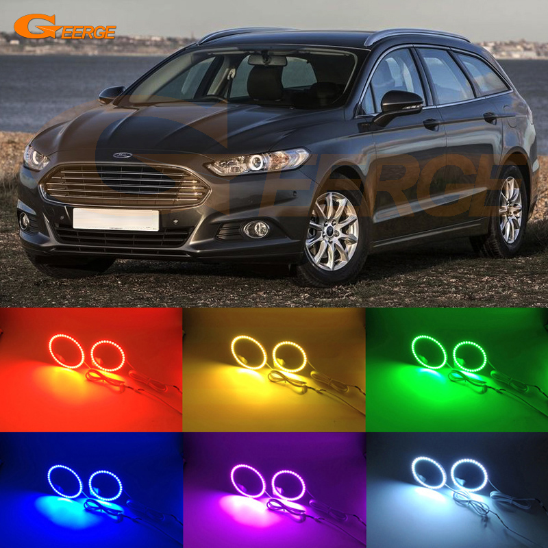 For Ford Mondeo Fusion 2013 2014 Excellent Angel Eyes Multi-Color Ultra bright RGB LED Angel Eyes kit Halo Ring redpower 21003 ford mondeo серый