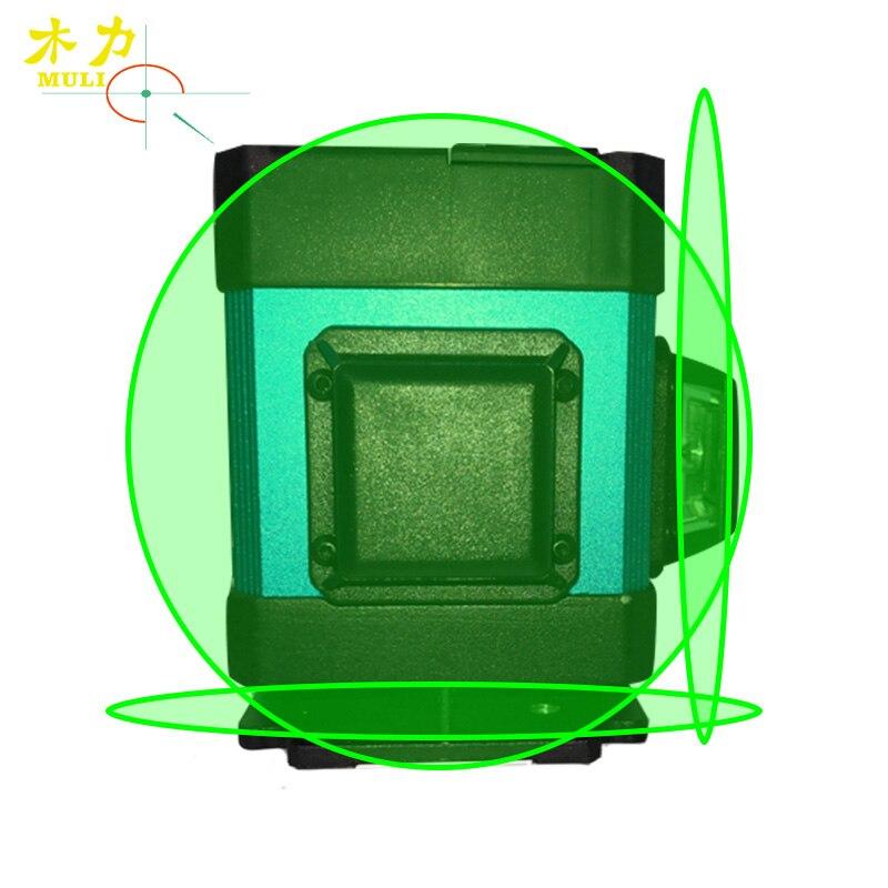 Muli Luce Verde 3D12 a Livello di Linea Pavimentazione In Piastrelle di Messa A Terra Strumento di Decorazione di Misura Linea Orizzontale Altezza 7mm di Controllo A Distanza