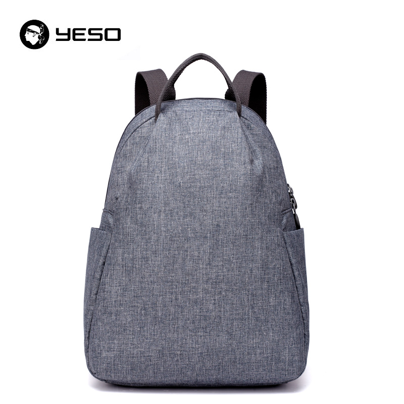YESO Fashion Backpack Men 12 13 14 inch Backpacks 2018 Waterproof Back Pack For Teenagers Oxford Business Casual Backpacks Women