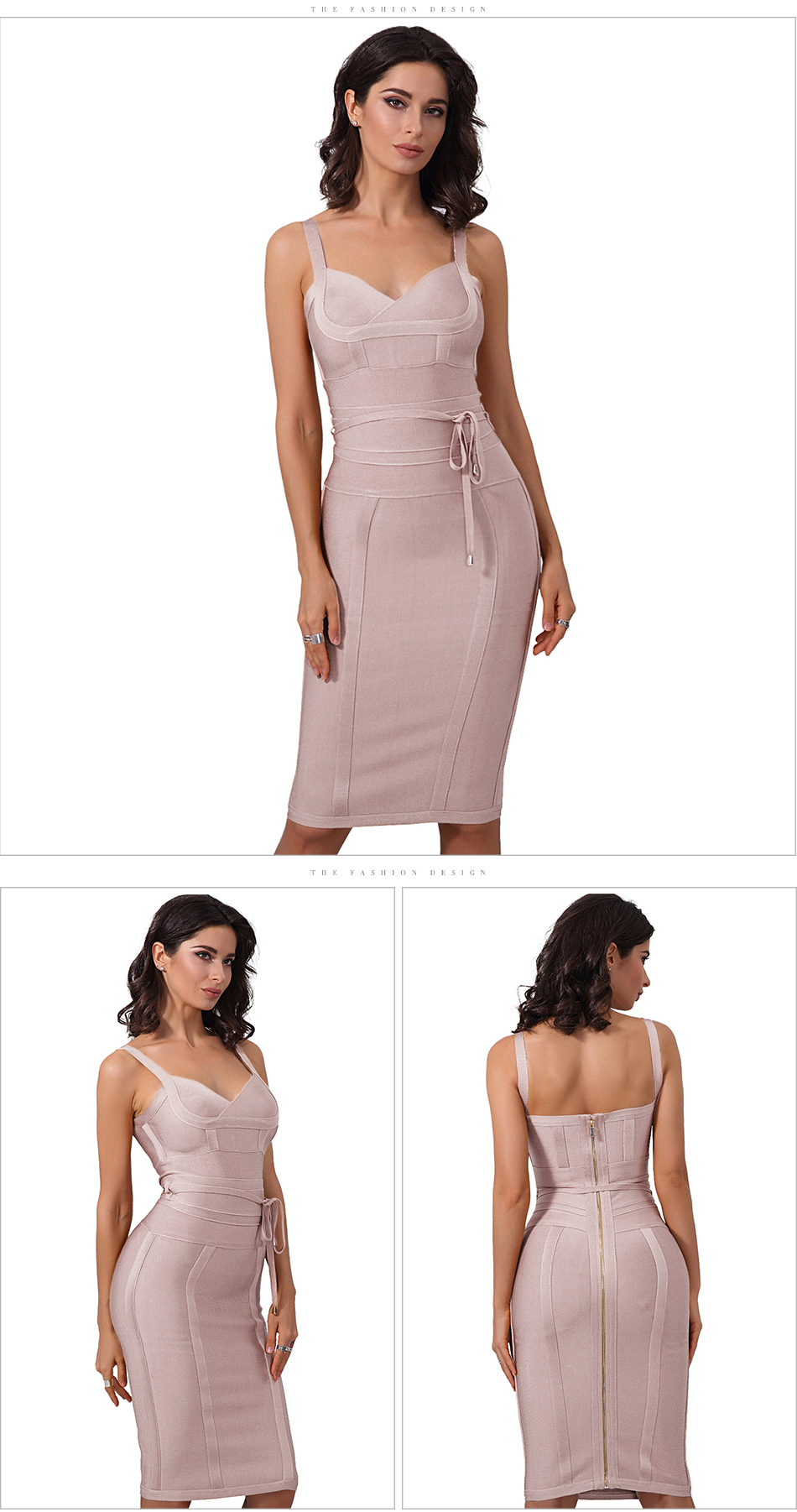 Chic Spaghetti Strap Bandage Bodycon Dress