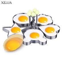 Perfect XZJJA High Quality 5pcs/set Creative Stainless Steel Cute Shaped Fried Egg  Mold Pancake Rings Mold Kitchen Tool