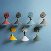 Modern Bedside wall lamp edison aisle sconce bedroom Read wall light Colorful bathroom E27 Pure copper holder light fixtures