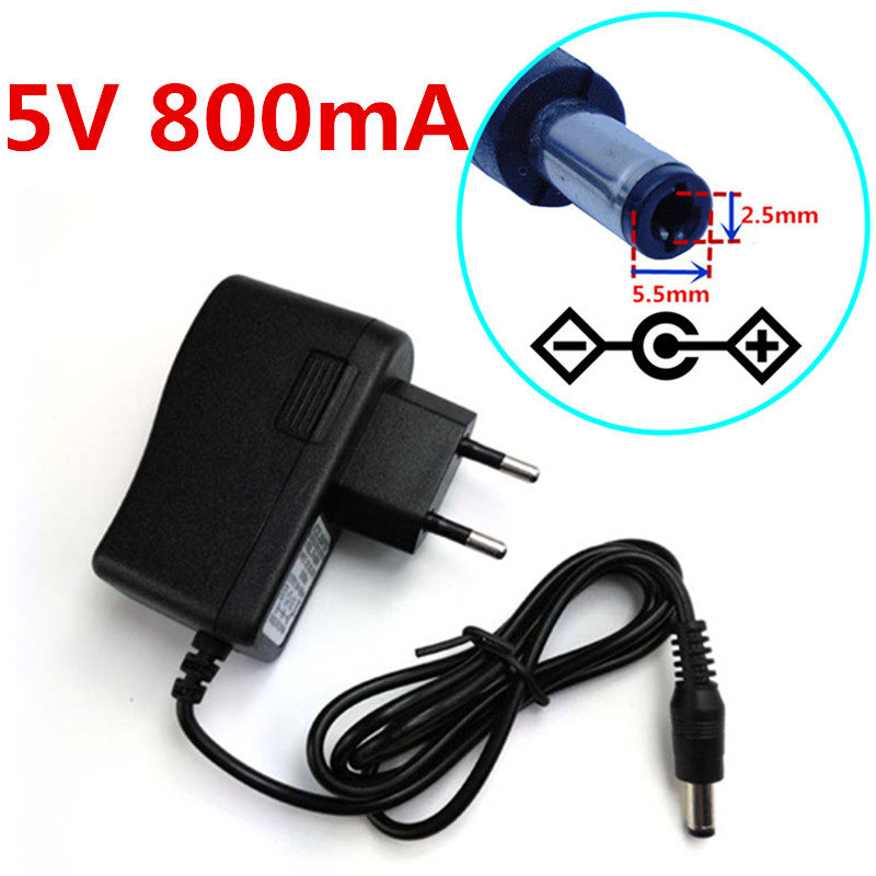 AC Adapter DC 3V 800mA Switching Power Supply Charger EU plug 5.5mm x 2.1mm 0.8A