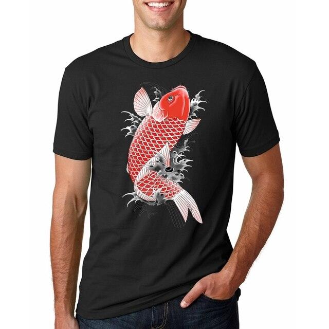 男性 tシャツオム原宿 modis 中国男性ヒップホップオーバーサイズ Tシャツ日本ストリート鯉プリント半袖 Tシャツシャツ