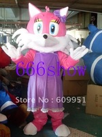 Hot sale! mascot costumes woman fox for sale Animal carnival costume Halloween Dress kids party free shipping