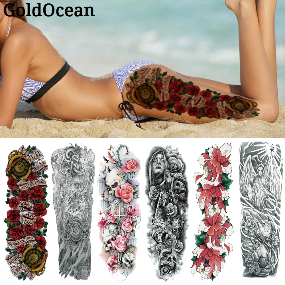 25 Pattern Compass Rose Blossom Temporary Tattoo Stickers For WOmen Summer Style Body Art Arm Legs Fake Waterproof Tattoo Men