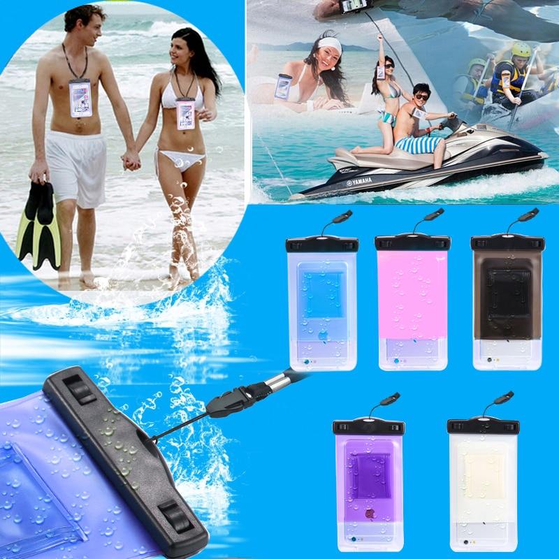 100% sellado a prueba de agua bolsa bolsa del teléfono case para apple iphone 6 6s 7 plus 5S so para samsung s8 s7 s6 edge borde bolsa j5 j7  p8