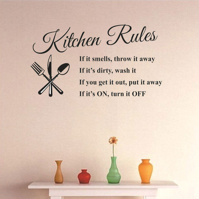 Kitchen Rules Diy Removable Wall Stickers Decal Home Accessories
