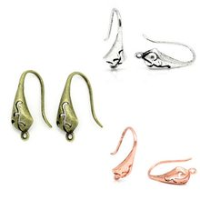 10 Mix Copper Ear Wire Hooks Hollow Pattern 18mm x 10mm M2137 Earring Hook Jewelry Accessories(China)