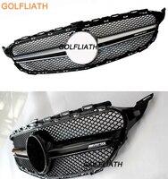 GOLFLIATH W205 Серебряный AMG Стиль Передняя решетка решетки с AMG логотип для Mercedes Benz C class W205 C180 C220 C250 C300 C350 C400