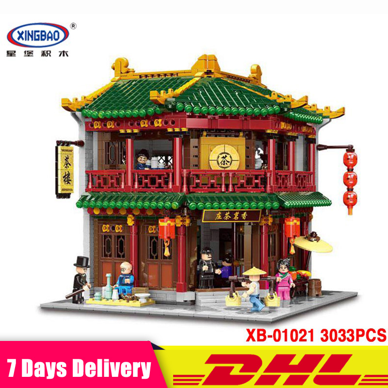 2018 New XINGBAO 01021 3033 PCS The Toon Tea House Model Building Bricks Blocks Toys Christmas Christmas New Year Gifts