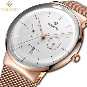 Image 2 - 女性の腕時計トップブランドの高級日本クォーツムーブメントステンレス鋼スライバー白ダイヤル防水腕時計レロジオ feminino