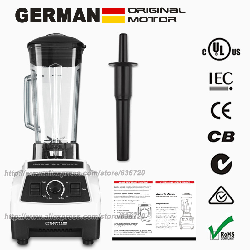 100 GERMAN Original Motor 3HP BPA FREE Commercial Home Professional Smoothies Power Blender Food Mixer Juicer