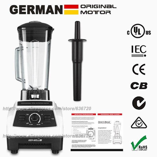 Eu/US/UK/АС Plug немецкий оригинал Двигатель профессиональный блендер, коктейли соковыжималка, Еда процессор с bpa бесплатно блендера (64 унц.)