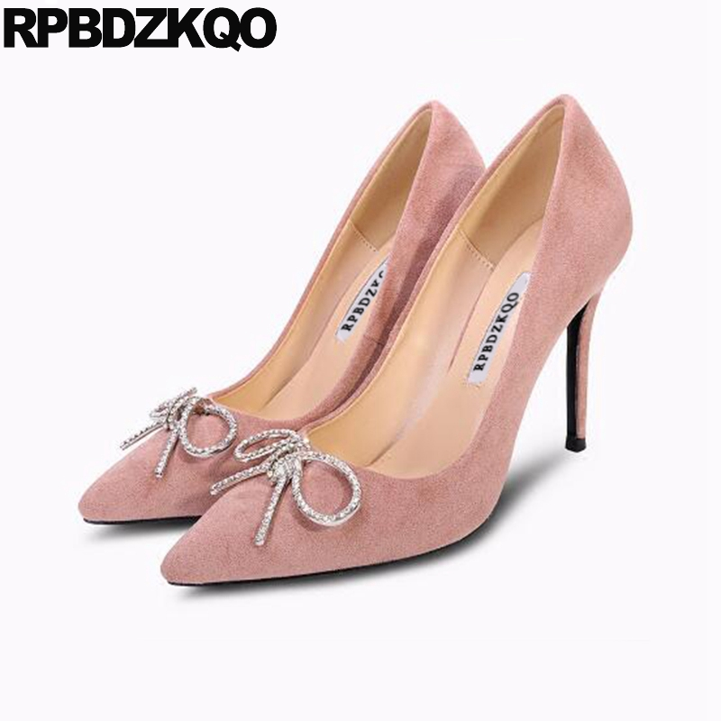 diamond extreme super red 8cm scarpin high heels rhinestone pointed toe ultra pink chic crystal shoes pumps dress bow womendiamond extreme super red 8cm scarpin high heels rhinestone pointed toe ultra pink chic crystal shoes pumps dress bow women